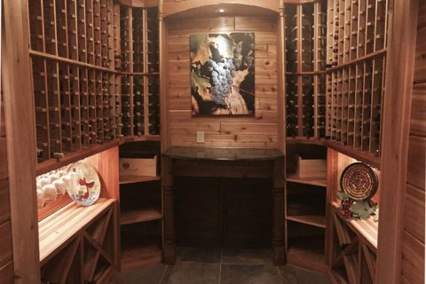 wine room remodel