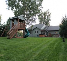 Hartland Construction treehouse swing set