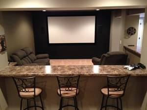Hartland Construction lower level theater room