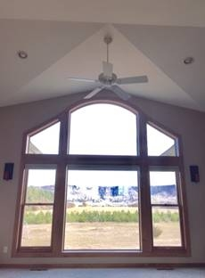 Hartland Construction window and ceiling