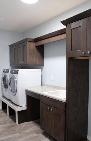 Raised laundry machines